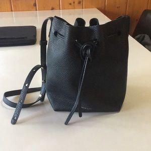 Mansur Gavriel Tumble Bag in black - mini